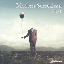 Modern Surrealism 2021 – Wand-Kalender – Broschüren-Kalender – 30×30- 30×60 geöffnet