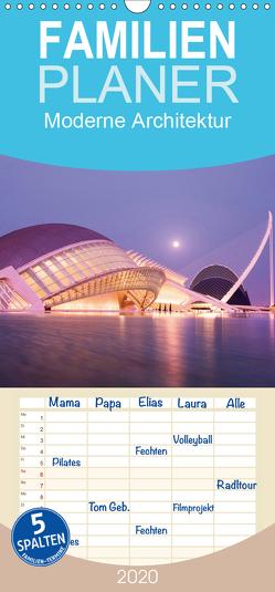 Moderne Architektur – Familienplaner hoch (Wandkalender 2020 , 21 cm x 45 cm, hoch) von Bücker,  Michael, Grasse,  Dirk, Hegerfeld-Reckert,  Anneli, Uppena,  Leon