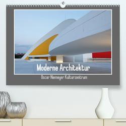 Moderne Architektur – Oscar Niemeyer Kulturzentrum (Premium, hochwertiger DIN A2 Wandkalender 2020, Kunstdruck in Hochglanz) von Ehrentraut,  Dirk