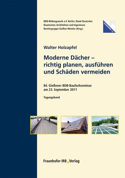 Moderne Dächer. von Holzapfel,  Walter