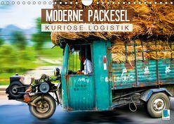 Moderne Packesel: kuriose Logistik (Wandkalender 2019 DIN A4 quer) von CALVENDO
