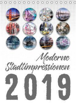 Moderne Stadtimpressionen (Tischkalender 2019 DIN A5 hoch) von Viola,  Melanie
