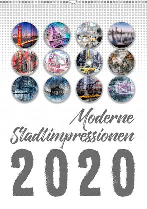 Moderne Stadtimpressionen (Wandkalender 2020 DIN A2 hoch) von Viola,  Melanie