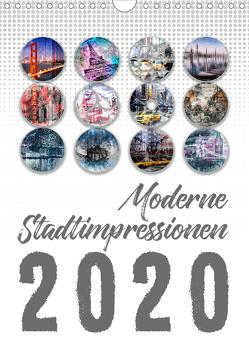 Moderne Stadtimpressionen (Wandkalender 2020 DIN A4 hoch) von Viola,  Melanie