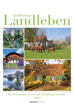 Modernes Landleben 2020 – Bildkalender (24 x 34) – mit Wetterprognosen aus dem 100-jährigen Kalender – Wandkalender von ALPHA EDITION