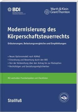 Modernisierung des Körperschaftsteuerrechts