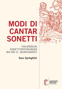 Modi di cantar sonetti von Springfeld,  Sara