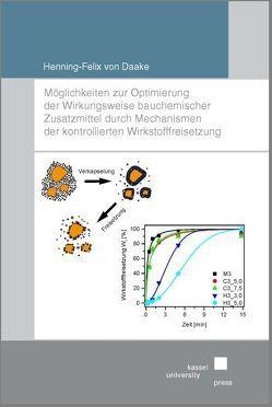 Möglichkeiten zur Optimierung der Wirkungsweise bauchemischer Zusatzmittel durch Mechanismen der kontrollierten Wirkstofffreisetzung von Daake,  Hennig-Felix von