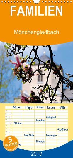 Mönchengladbach – Ein Stadtrundgang am Niederrhein – Familienplaner hoch (Wandkalender 2019 , 21 cm x 45 cm, hoch) von Bergmann,  Daniela