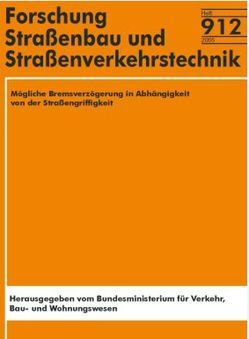 Mögliche Bremsverzögerung in Abhängigkeit von der Strassengriffigkeit von Loeben,  W. von, Roos,  R, Zimmermann,  M.