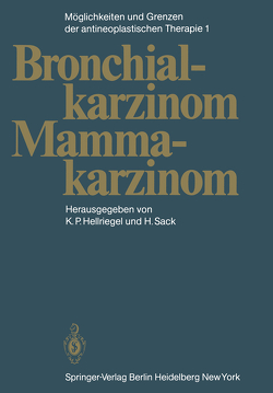 Möglichkeiten und Grenzen der antineoplastischen Therapie von Brunner,  K.W., Cavalli,  F., Heilmann,  H.-P., Hellriegel,  K. P., Hossfeld,  D.K., Junginger,  T., Klein,  H.O., Makoski,  H.-B., Niederle,  N., Pichlmayer,  H., Sack,  H., Sauer,  R., Seeber,  S.