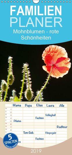 Mohnblumen – rote Schönheiten – Familienplaner hoch (Wandkalender 2019 , 21 cm x 45 cm, hoch) von Bölts,  Meike