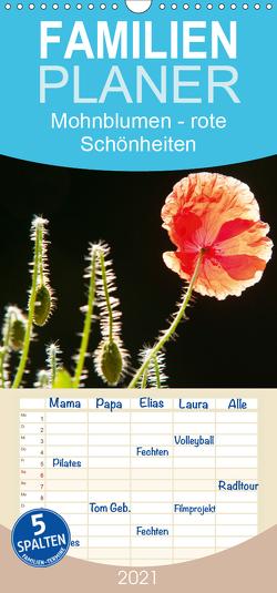 Mohnblumen – rote Schönheiten – Familienplaner hoch (Wandkalender 2021 , 21 cm x 45 cm, hoch) von Bölts,  Meike