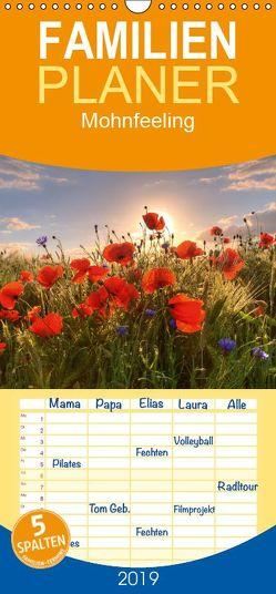 Mohnfeeling – Familienplaner hoch (Wandkalender 2019 , 21 cm x 45 cm, hoch) von Gierok,  Steffen