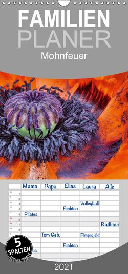 Mohnfeuer – Familienplaner hoch (Wandkalender 2021 , 21 cm x 45 cm, hoch) von Herzog,  Thomas, www.bild-erzaehler.com