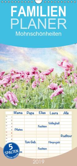 Mohnschönheiten – Familienplaner hoch (Wandkalender 2019 , 21 cm x 45 cm, hoch) von Hultsch,  Heike