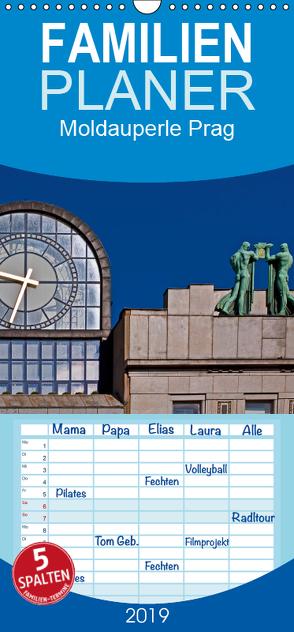 Moldauperle Prag – Familienplaner hoch (Wandkalender 2019 , 21 cm x 45 cm, hoch) von boeTtchEr,  U