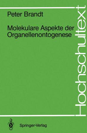 Molekulare Aspekte der Organellenontogenese von Brandt,  Peter
