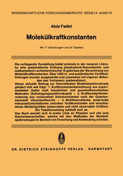 Molekülkraftkonstanten von Fadini,  Alois