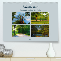 Momente – Gütersloh entlang der Dalke (Premium, hochwertiger DIN A2 Wandkalender 2021, Kunstdruck in Hochglanz) von Gube,  Beate