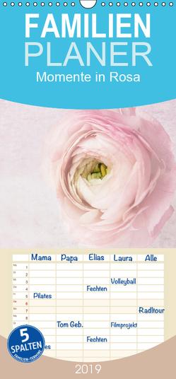 Momente in Rosa – Familienplaner hoch (Wandkalender 2019 , 21 cm x 45 cm, hoch) von Möckel / Lucy L!u,  Claudia