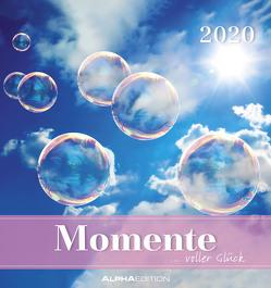 Momente voller Glück 2020 – Postkartenkalender (16 x 17) – mit Zitaten – zum aufstellen oder aufhängen – Geschenkidee – Gadget von ALPHA EDITION
