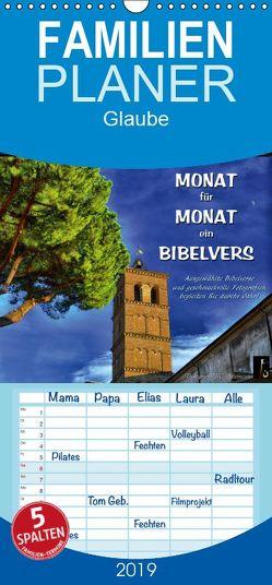 Monat für Monat ein Bibelvers – Familienplaner hoch (Wandkalender 2019 , 21 cm x 45 cm, hoch) von Bittermann,  HC