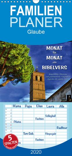 Monat für Monat ein Bibelvers – Familienplaner hoch (Wandkalender 2020 , 21 cm x 45 cm, hoch) von Bittermann,  HC
