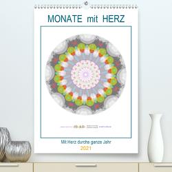 Monate mit Herz (Premium, hochwertiger DIN A2 Wandkalender 2021, Kunstdruck in Hochglanz) von Zapf,  Gabi