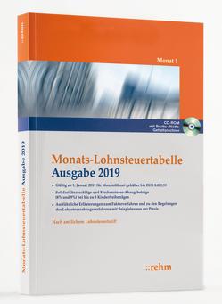Monats-Lohnsteuertabelle 2019