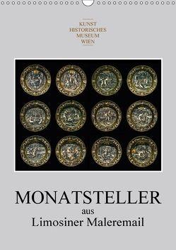 Monatsteller aus Limosiner Maleremail (Wandkalender 2018 DIN A3 hoch) von Bartek,  Alexander