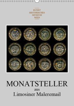 Monatsteller aus Limosiner Maleremail (Wandkalender 2019 DIN A3 hoch) von Bartek,  Alexander