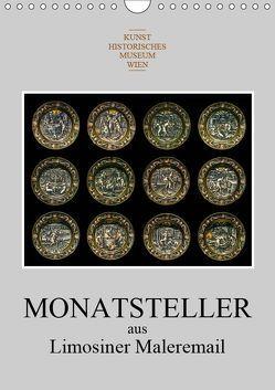 Monatsteller aus Limosiner Maleremail (Wandkalender 2019 DIN A4 hoch) von Bartek,  Alexander