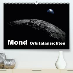 Mond Orbitalansichten (Premium, hochwertiger DIN A2 Wandkalender 2020, Kunstdruck in Hochglanz) von Schilling und Michael Wlotzka,  Linda