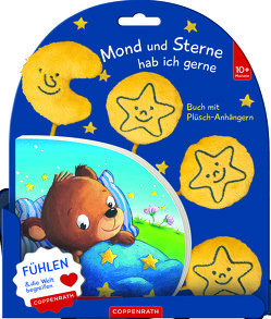 Mond und Sterne hab ich gerne (Buch mit Plüsch-Anhängern) von Kraushaar,  Sabine