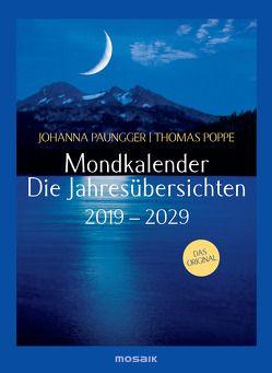 Mondkalender – die Jahresübersichten 2019-2029 von Paungger,  Johanna, Poppe,  Thomas