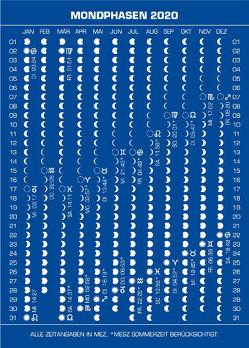 Mondphasenpostkarten 2020 von Liggenstorfer,  Roger