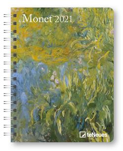 Monet 2021 – Diary – Buchkalender – Taschenkalender – 16,5×21,6 von Monet,  Claude