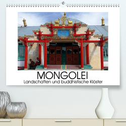 Mongolei – Landschaften und buddhistische Klöster (Premium, hochwertiger DIN A2 Wandkalender 2021, Kunstdruck in Hochglanz) von M. Laube,  Lucy