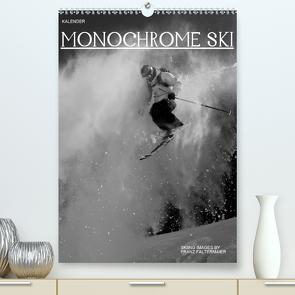 Monochrome Ski (Premium, hochwertiger DIN A2 Wandkalender 2021, Kunstdruck in Hochglanz) von Faltermaier,  Franz