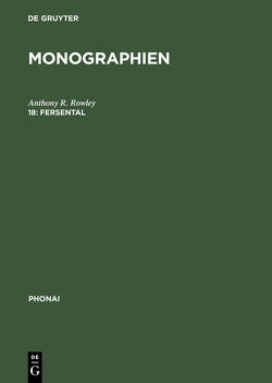 Monographien / Fersental von Rowley,  Anthony R