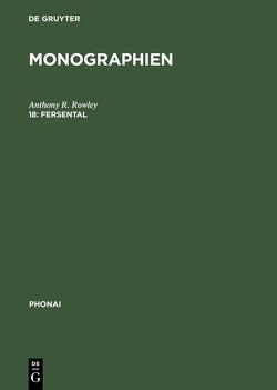 Monographien / Fersental von Rowley,  Anthony R