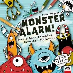 Monster-Alarm! Das schaurig-schöne Monster-Malbuch für Kinder ab 3 Jahre von Weßner,  Silke