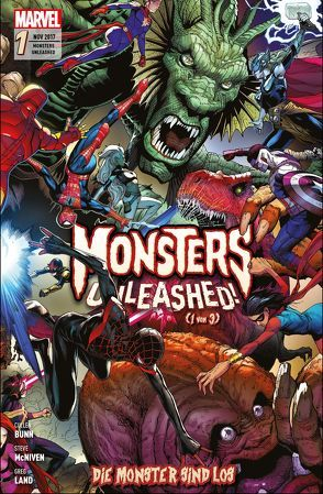 Monsters Unleashed: Die Monster sind los von Bunn,  Cullen, Corin,  Joshua, Izaakse,  Sean, Kronsbein,  Bernd, Land,  Greg, McNiven,  Steve, Walker,  Tigh, Zub,  Jim