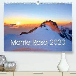 Monte Rosa(Premium, hochwertiger DIN A2 Wandkalender 2020, Kunstdruck in Hochglanz) von Kehl,  Michael