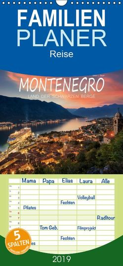 Montenegro – Land der schwarzen Berge – Familienplaner hoch (Wandkalender 2019 , 21 cm x 45 cm, hoch) von L. Beyer,  Stefan