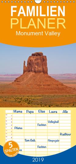 Monument Valley – Familienplaner hoch (Wandkalender 2019 , 21 cm x 45 cm, hoch) von Malaman,  Fritz