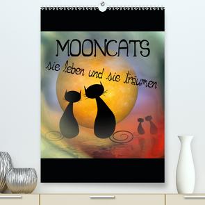 Mooncats – sie leben und sie träumen (Premium, hochwertiger DIN A2 Wandkalender 2021, Kunstdruck in Hochglanz) von IssaBild
