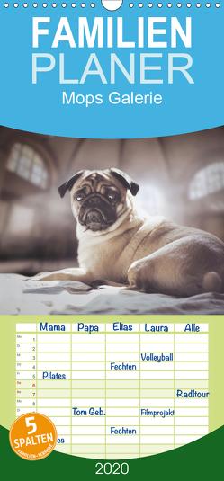 Mops Galerie – Familienplaner hoch (Wandkalender 2020 , 21 cm x 45 cm, hoch) von Galerie,  Mops