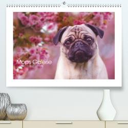 Mops Galerie (Premium, hochwertiger DIN A2 Wandkalender 2020, Kunstdruck in Hochglanz) von Arendt,  Melanie